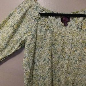💐 J. Crew Liberty print blouse